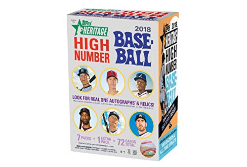 Topps 2018 Heritage High Number Baseball Blaster Box (8 Packs/9 Cards) ()