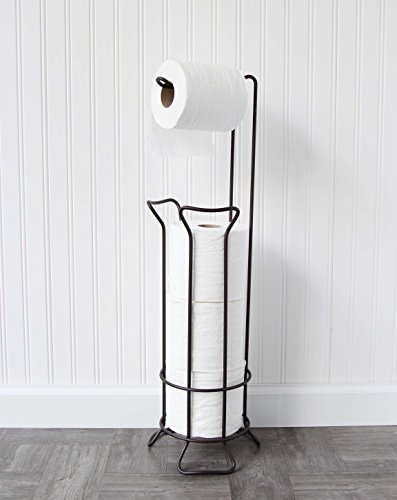 standing Toilet Paper Holder in Oil Rubbed Bronze - Warwick ()