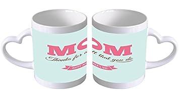 Kaffe Tasse Sprüche Mama Danke Muttertag Henkel In Herzform