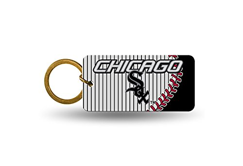 Rico MLB White Sox Crystal View Keychain, 4 x 3, Logo Color