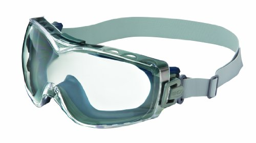 Uvex Stealth OTG Safety Goggles with Anti-Fog/Anti-Scratch Coating - Clear Xtr Lens