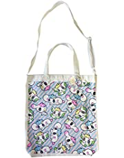 Cotton Canvas Tote - Features 2 Handles and Adjustable Strap for Use as Hand or Shoulder Bag