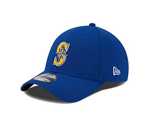 MLB Seattle Mariners Team Classic Alternative 2 39Thirty Stretch Fit Cap, Blue, Medium/Large