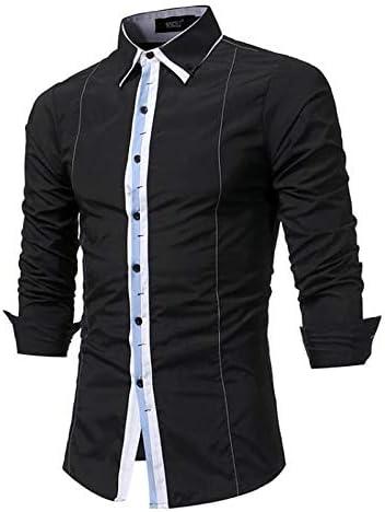 IYFBXl Camisa para Hombre/Punk y gótica - Rayado/Bloque de Color, Negro, XL: Amazon.es: Deportes y aire libre