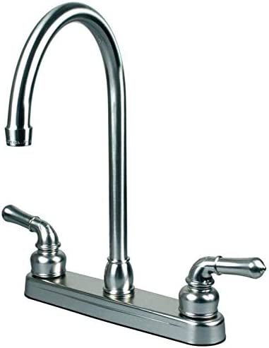 RV Mobile Home Kitchen Sink Faucet, CHROME – 14.5 TALL SPOUT