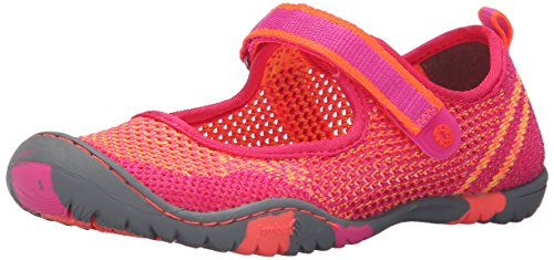 Jambu Sora Lightweight Mary Jane (Toddler/Little Kid/Big Kid), Fuchsia/Coral, 5 M US Big Kid