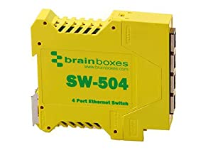 BRAINBOXES SW-504 / Industrial Unmanaged Ethernet Switch 4 Ports / 4 Ports - 4 x RJ-45 - 10/100Base-TX - Rail-mountable