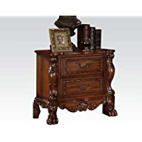 ACME 12143 Dresden Nightstand, Cherry Oak Finish