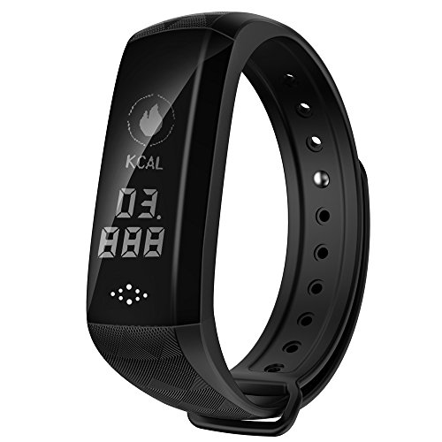 Smart Band, Waterproof IP67 Activity Tracker Fitness Watch with Sustained Heart Rate Monitor USB Charging Calorie Counter Sleep Tracker Wireless Bluetooth Bracelet for iOS &Android