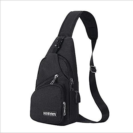 Color : Light Grey RABILTY Sling Bag Chest Pack Crossbody Lightweight with USB Charging Port Shoulder Bag for Men Women Travel Outdoors Boys Girls