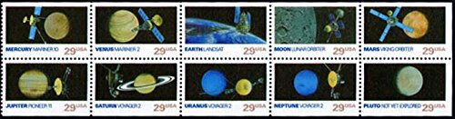 US Stamps - Space Exploration - 10 Stamp Mint Booklet Pane - #2568-77 (Stamps Space Mint)