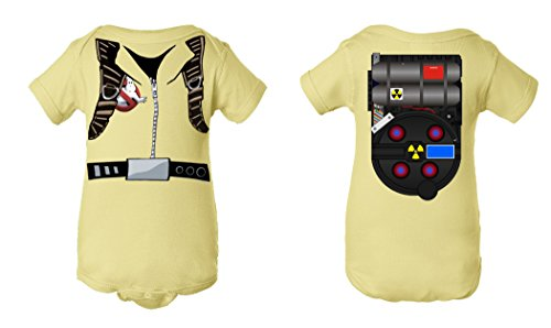 Tee Tee Monster Baby Ghostbusters Inspired Onesie (6 month, pale yellow)