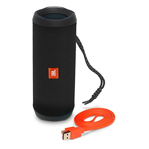 JBL FLIP 4 IPX7 Waterproof Wireless Portable Bluetooth Rechargeable USB Speaker (Black) (Renewed) ()