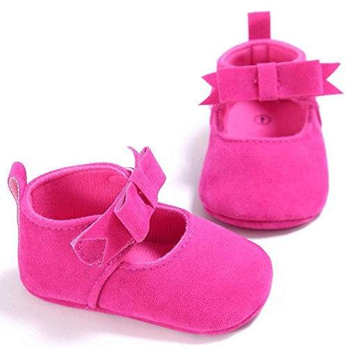 Sandalias de chica, Internet Zapatillas antideslizantes antideslizantes para bebés recién nacidos Rosa caliente