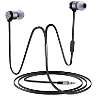 Noise Isolating Earphones in Ear Bass Driven Sound Mobile Phone Wired Headsets Portable Headphones with Microphone for iPhone, Samsung Galaxy, iPad, iPod, Android Phones Tablets (black)