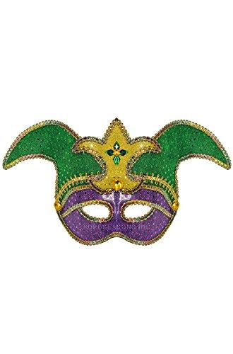 Pure Seasons Riddling Jester Mask-Standard (Carnavale Costumes)