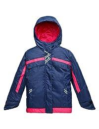 Wantdo Girl's Waterproof Jacket Winter Hooded Rainwear with Reflective