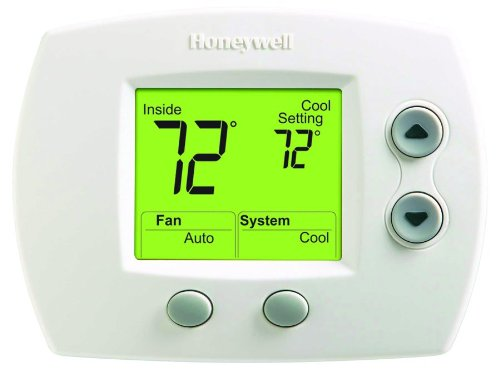 Honeywell TH5110D1006 Honeywell Non-Programmable Thermostat, Up To 1 Heat/1 Cool (Best Place For Central Heating Thermostat)