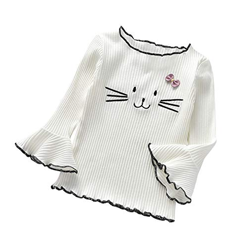 Littay Infant Baby Kids Boys Girls T-Shirts Cartoon Cat Tops Undershirt Outfits Clothes ()