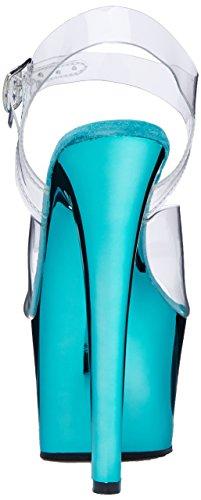 Clr Pleaser Platform Turquoise Women's Chrome Transparent Sky 308 Sandals ffHxYnB