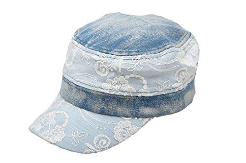 con encaje Fashion de Acvip Hat b Denim Sun gorra w1XUf6