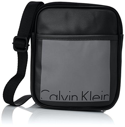 Calvin Klein Cruise Mini Flat Crossover - Bandolera para Hombre Negro (Black/Castlerock 908)