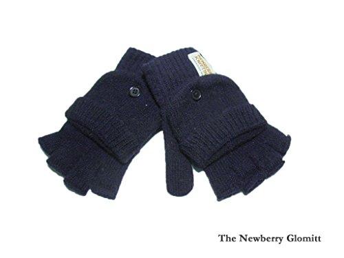 違う彼らのオープナー【NEWBERRY KNITTING】ニューベリーニッティング The Newberry Glomitt Navy レディース?ツーウェイタイプグローブ