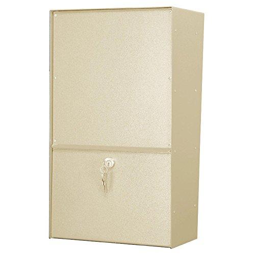 (Jayco Wall Mount Vertical Rear Access Aluminum Letter Locker Mailbox, Tan )