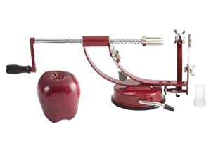 3 in 1 Apple Peeler/Corer/Slicer with Suction Cup Bottom-Red
