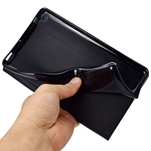 T3 Closure Case Sleep Bookstyle 0 Card Huawei Magnetic Folding MediaPad of Color LMFULM® 7 and Thin for Slot Auto Leather Inch PU 7 Ultra Case Function Wake Leather Color 6 Function Glitter Pattern Stent BTWw06Iw
