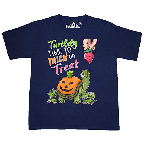 inktastic - Turtlely Time to Trick or Youth T-Shirt Youth X-Large (18-20) Navy -