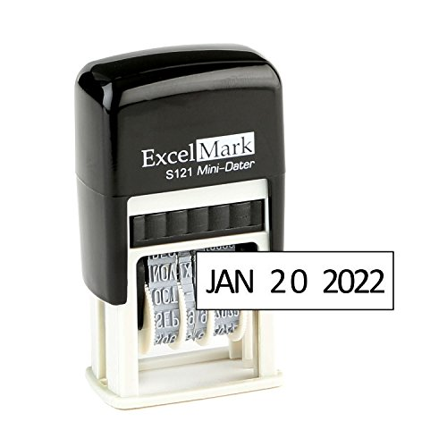 ExcelMark Self-Inking Date Stamp – S121 (Black Ink) (Line Stamp Date)