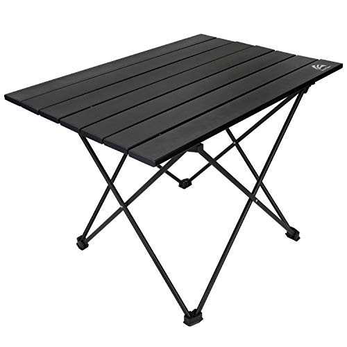 BERSERKER OUTDOOR Portable Lightweight Camping Table Folding Aluminum Table Compact Picnic Table with Cary Bag,Easy to Set Up, Perfect for Outdoor,BBQ, Cooking, Festival, Beach, Home Use