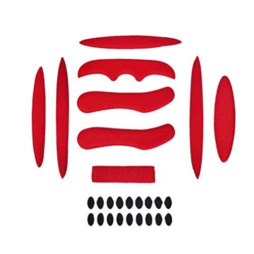 (TUANTUAN 27 Pcs/Set Helmet Padding Kit Bicycle Replacement Universal Foam Pads Set Universal Airsoft Helmet EVA Pads for Bike Motorcycle Cycling Helmet)