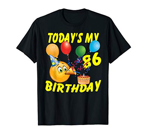 Funny Emoji Shirt Today's My 86th Birthday 86 Years Old T-Shirt