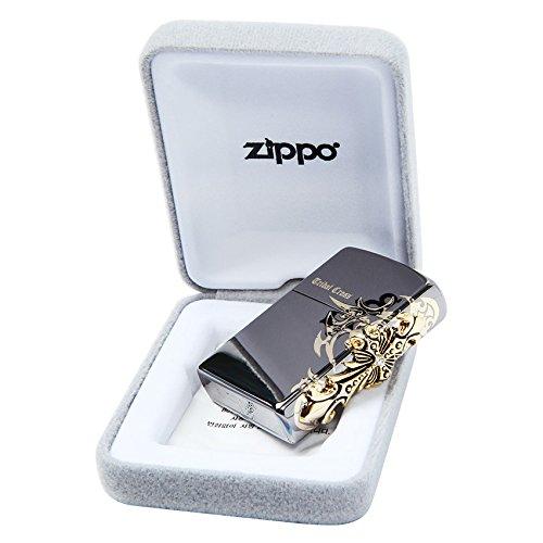 Zippo Tribal Cross Side Black Ice ライターUSA本物のオリジナル包装製 [並行輸入品] B019X9HDQW