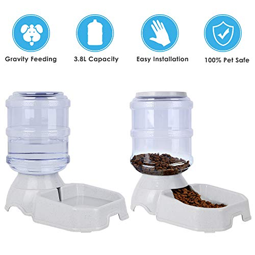 (Pedy Cat Self Feeder and Waterer, Automatic Gravity Pet Bowl for Dogs)