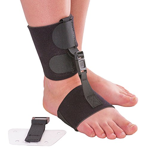 Soft AFO Foot Drop Brace | Ankle Foot Orthosis with Dorsiflexion Assist Strap Keeps Foot Up for Improved Walking Gait, Prevents Cramps – Wear Barefoot or Inside Shoe (L/XL – Fits Right or Left Foot)
