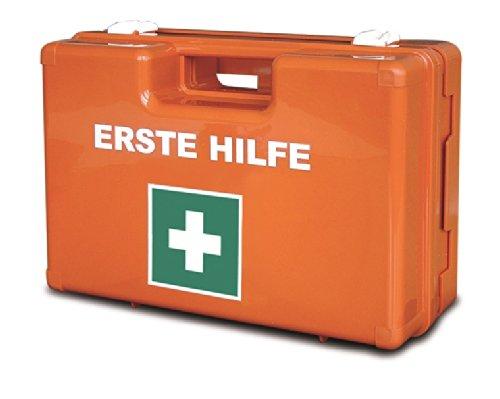VERBANDSKASTEN Erste Hilfe Koffer Lüllmann DIN 13157 Verbandkasten inkl. Wandhalter orange 620152