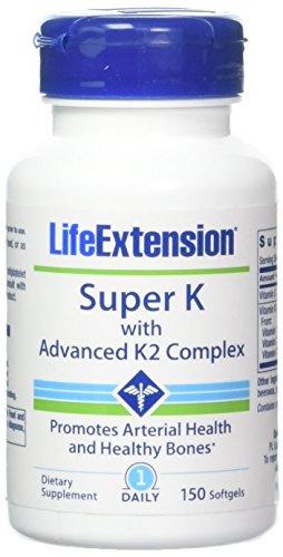 Life Extension Super K with Advanced K2 Complex Softgels, 150 Count