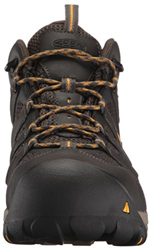 KEEN Utility Men's Lansing Mid Waterproof Industrial and Construction Shoe, Raven/Tawny Olive, 10.5 2E US by KEEN Utility (Image #4)