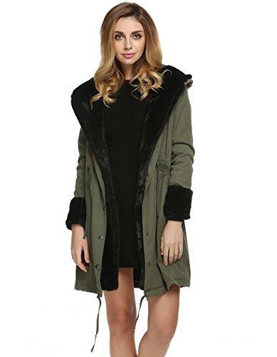 Bifast Girls Fashion Celebrity Street Style Faux Fur Warm Coat Army Green - Celebrity Kids Style