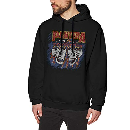 Pantera Skull Logo Mens Long Sleeve Sweatshirts Mans Hoodies L Black