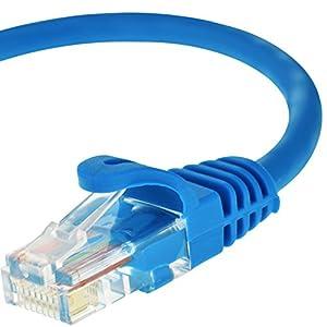 Cable Ethernet Mediabridge Cat5e RJ45 cable para redes de computación, 25 pies, color azul