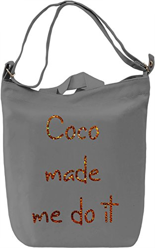 Coco made me Borsa Giornaliera Canvas Canvas Day Bag| 100% Premium Cotton Canvas| DTG Printing|
