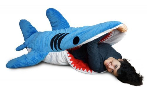 Chumbuddy 3 Shark Adult Size Sleeping Bag and Designer Plush Figure by Patch Together by Patch Together