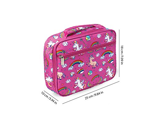 Keeli Kid's Lunch Box Pink Unicorn with Pink Sandwich Cutter in Unicorn Pink by Keeli Kids (Image #2)