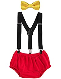 Baby Boys Cake Smash Outfit First Birthday Bloomers...
