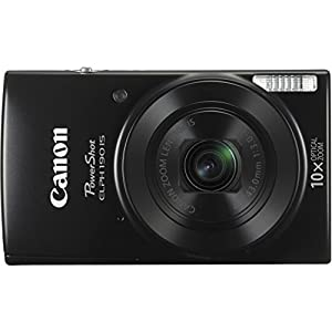 Canon PowerShot ELPH 190 IS Digital Camera with 10x Optical Zoom and Built-In Wi-Fi with Deluxe Bundle by Canon