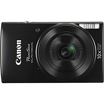 Canon Powershot Elph 190 Is Digital Camera (Black) With 10x Optical Zoom & Built-in Wi-fi With 32gb Sdhc + Flexible Tripod + Acdc Turbo Travel Charger + Replacement Battery + Protective Camera Case 1